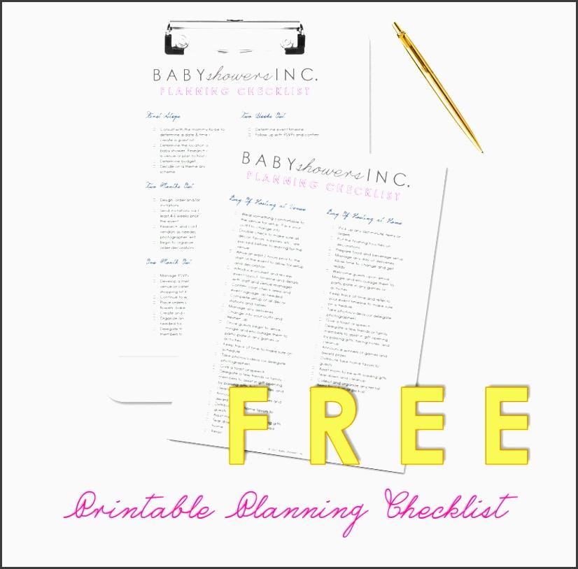 free printable baby shower planning checklist