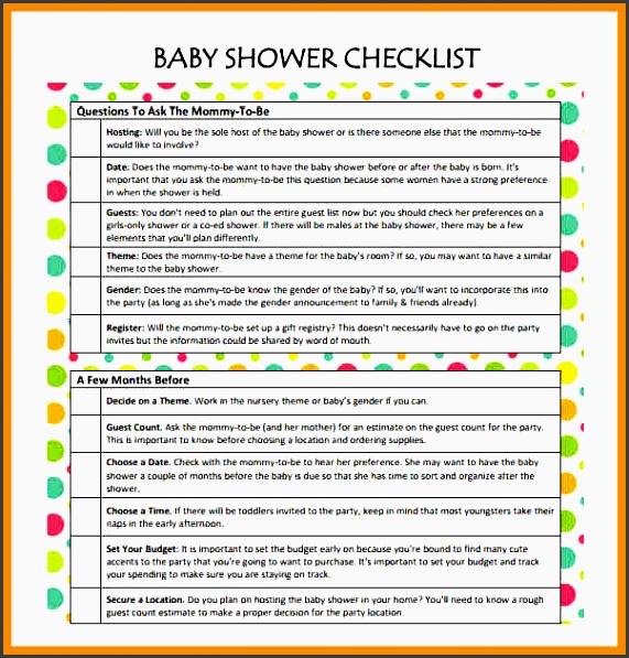 11 baby shower planner sample