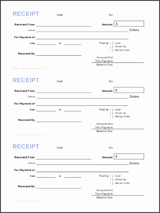 7 bank cash receipt template