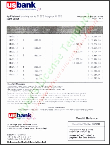 u s bank statement psd template us bank statement psd