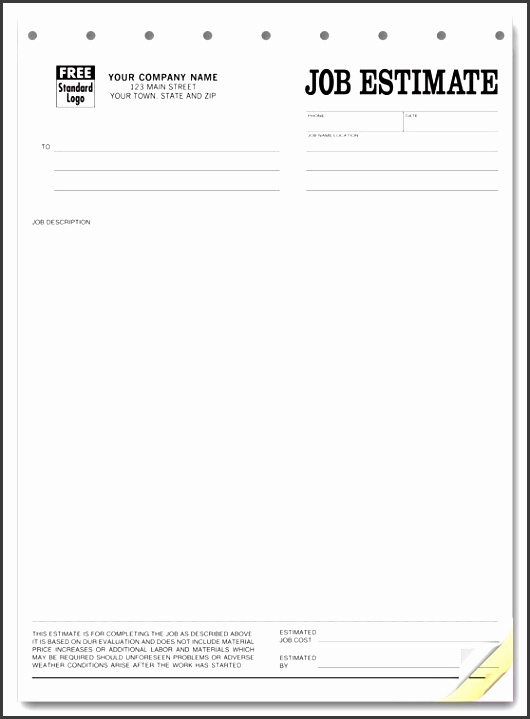 printable blank bid proposal forms printable quote template free job estimate forms middot
