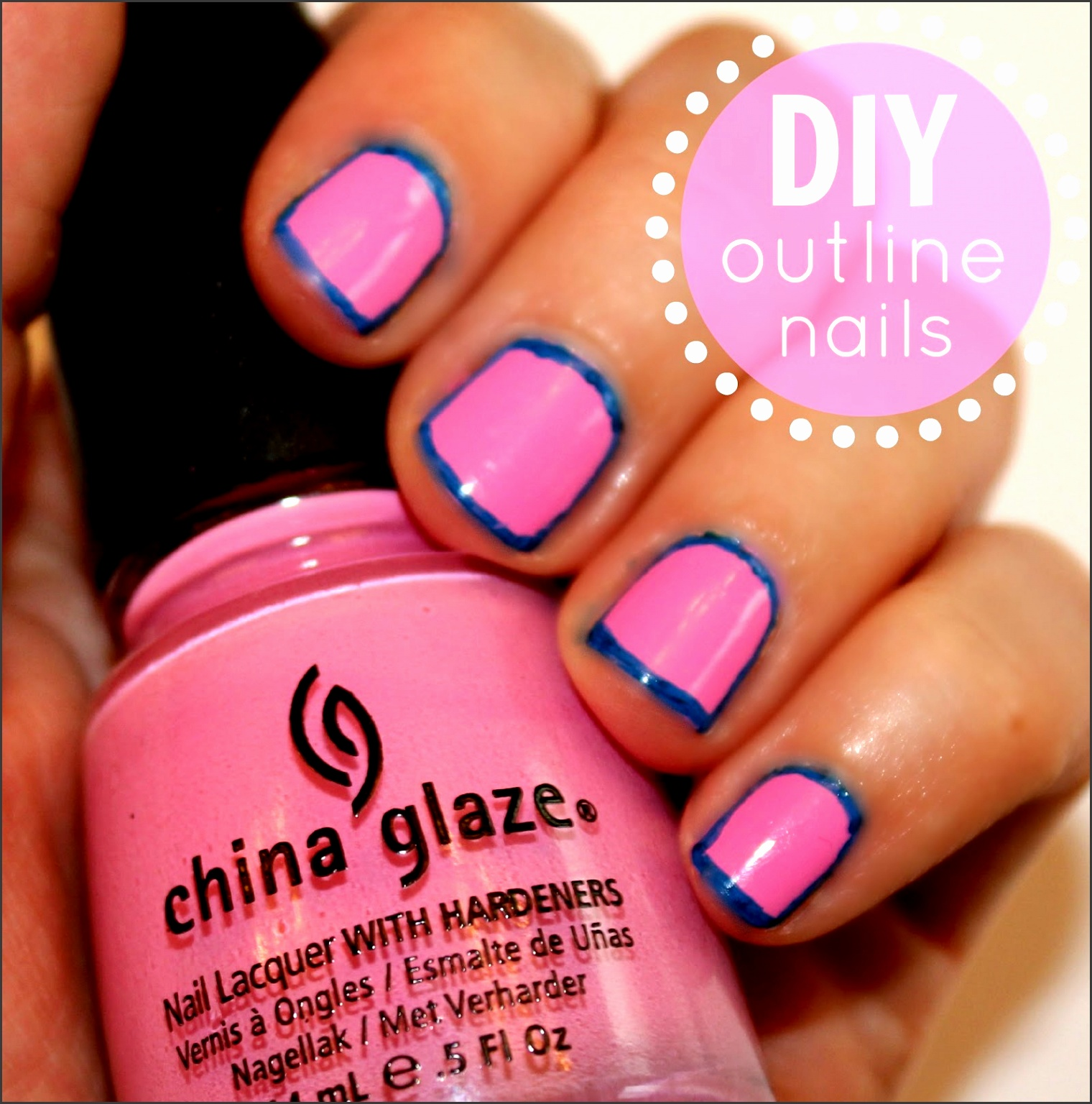 easy outline nails diy