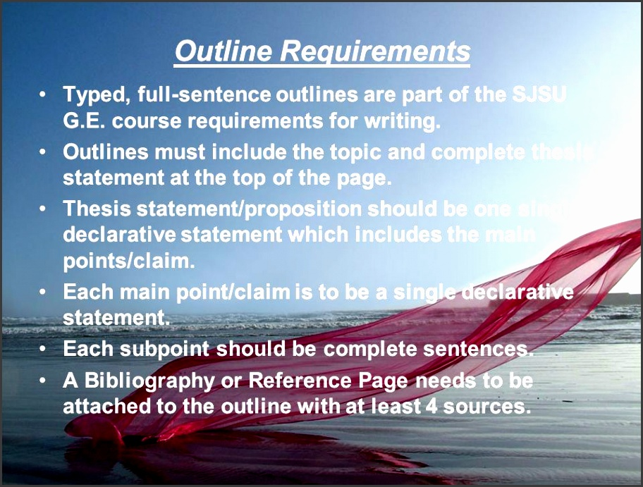 2 outline requirements