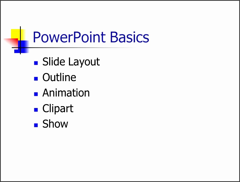 1 powerpoint basics slide layout outline animation clipart show