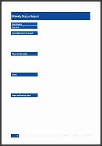 weekly status report template fd9a19d315ec3e fd