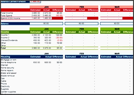 excel bud planner template for family