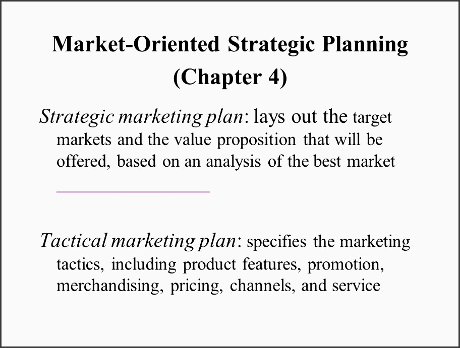 2 market oriented strategic planning chapter 4 strategic marketing