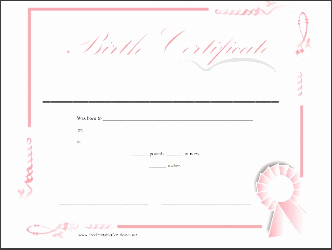 printable birth certificate template 04