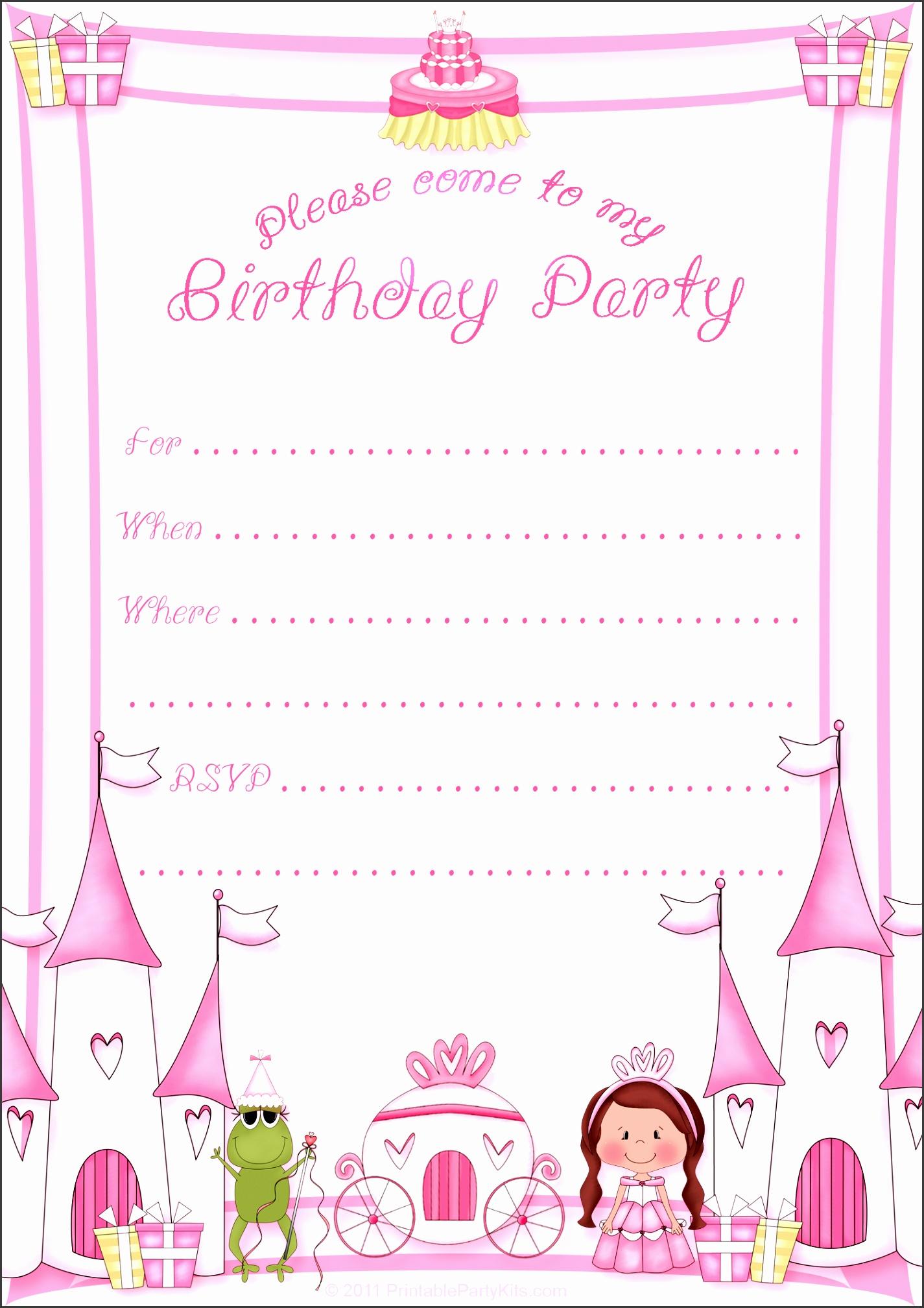 birthday invitation template 26