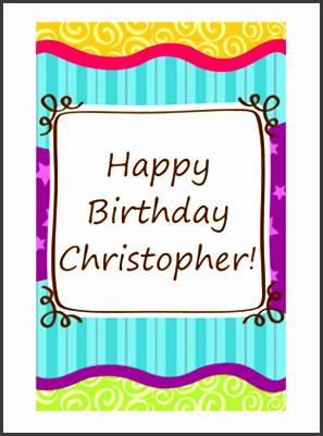 birthday card stars and stripes kids half fold