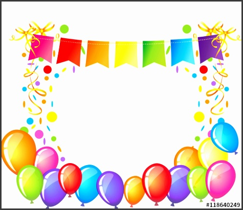 celebration background with colorful confetti ribbons and balloons happy birthday greeting card template