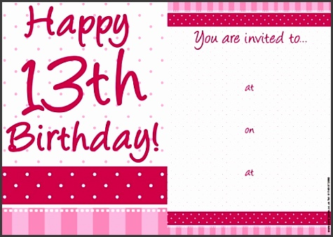 13th birthday party invitations with elegant design to make nice birthday invitations design