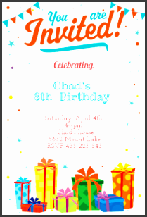 birthday party invitations template with amazing ornaments of beautiful invitation cards invitation card design 2