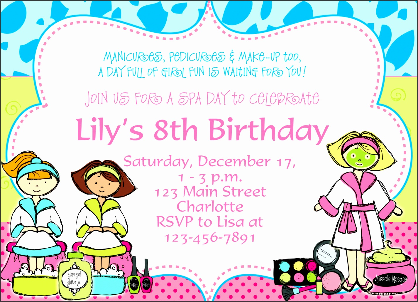 birthday party invitation to make pretty birthday invitation design online