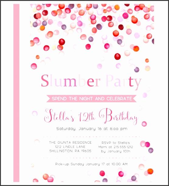 water slumber party invitations girls sleepover birthday party