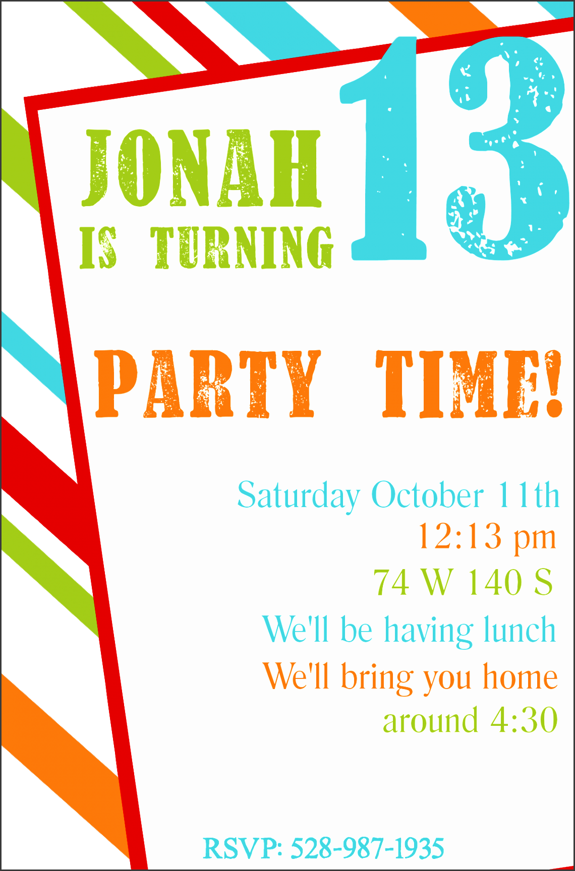 free printable birthday party invitation templates for teenagers