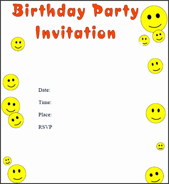baby birthday invitation template