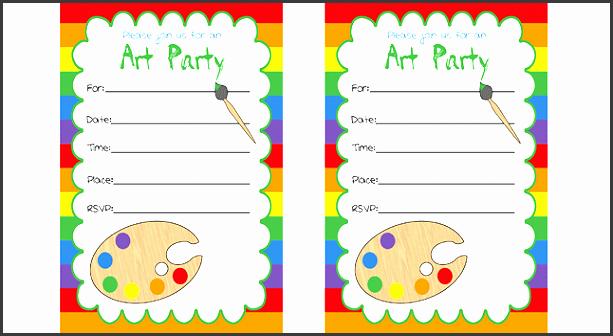 printables free art party invitations