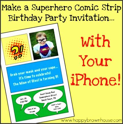 superhero invitation tutorial