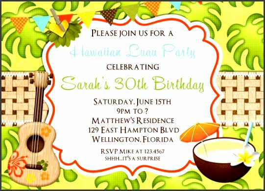 luau birthday party invitations with great sample to make beautiful birthday invitations template