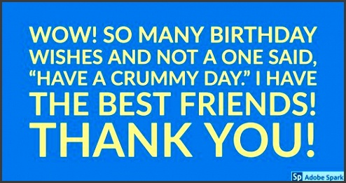 thank you messages after a birthday party