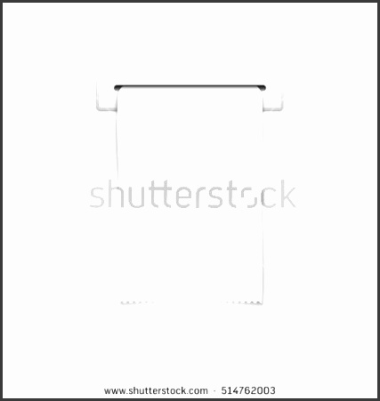 blank shopping cash receipt template financial cash receipt paper cash receipt in slot illustration
