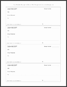 free printable receipt templates free printable cash receipts forms