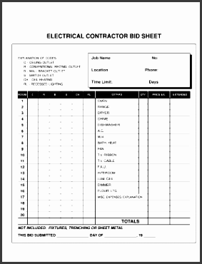 electrical contract template form