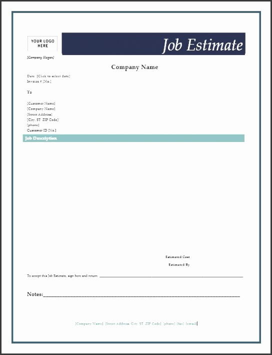 free job estimate forms microsoft word templates estimate sheet template aiyin template source