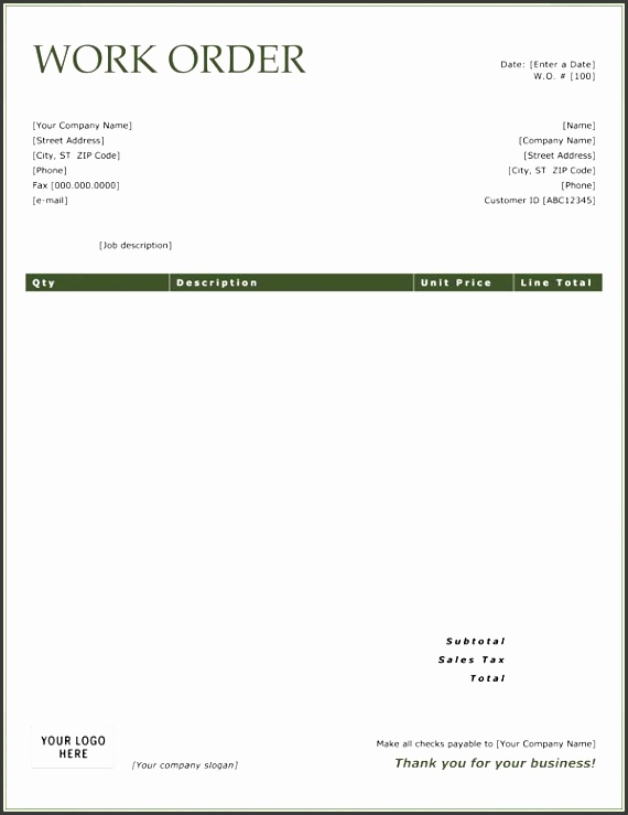 work order template letsainu