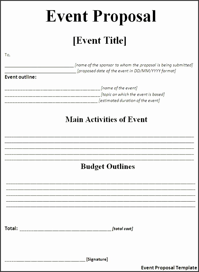 blank event proposal template