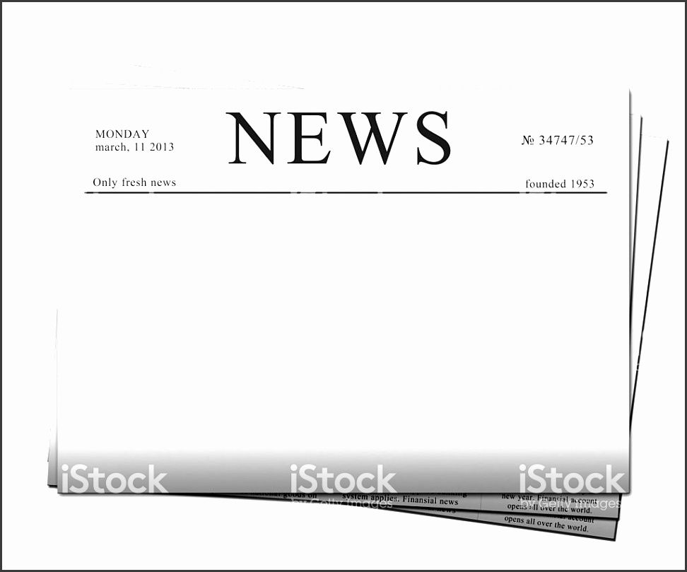 10 blank newspaper template
