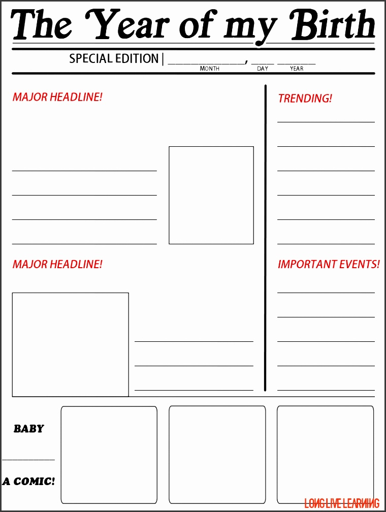 Blank Newspaper Template  Sampletemplatess  Sampletemplatess