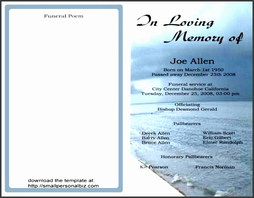 10 blank obituary template