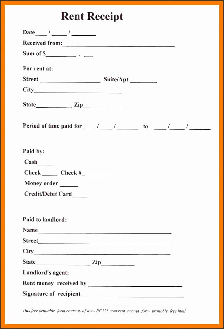 5 Blank Rent Receipt Template - SampleTemplatess - SampleTemplatess