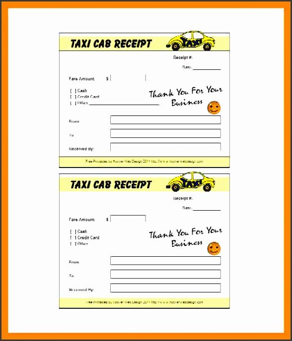 10 blank taxi receipt template
