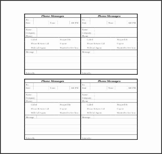 free phone message log pdf format1