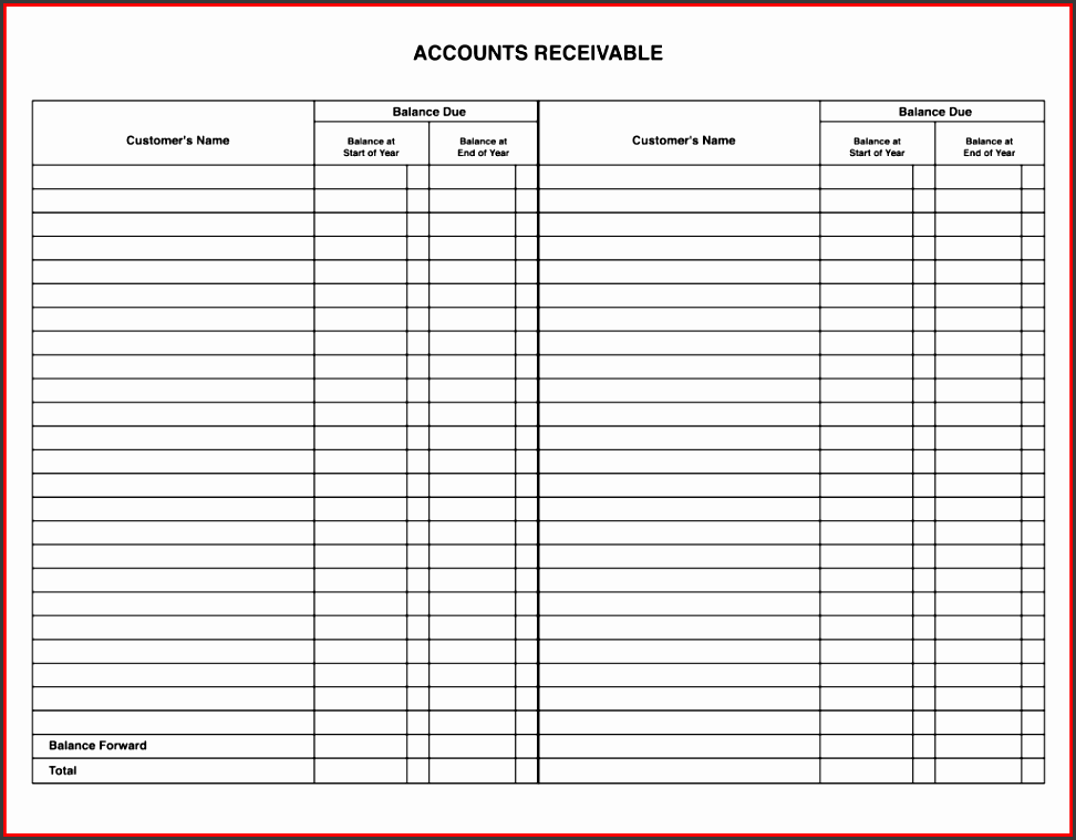 templates formatted business general ledger template