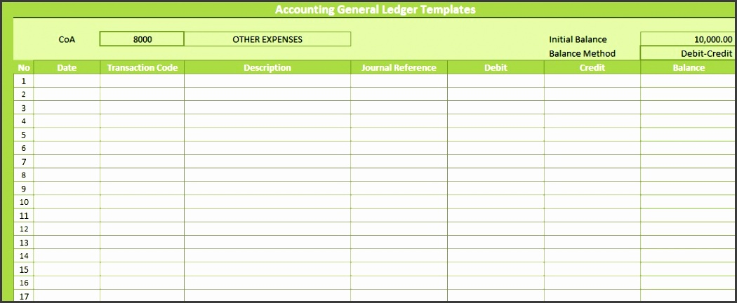 guide to use general ledger account excel template accounting general ledger templates