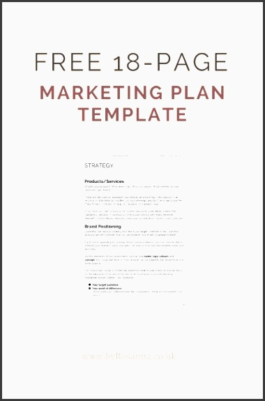 a free marketing plan template see more here