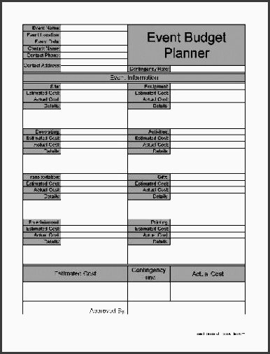 basic event bud planner