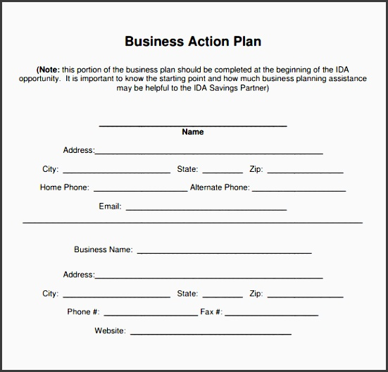 business action plan template sample business action plan 4 documents in word pdf template