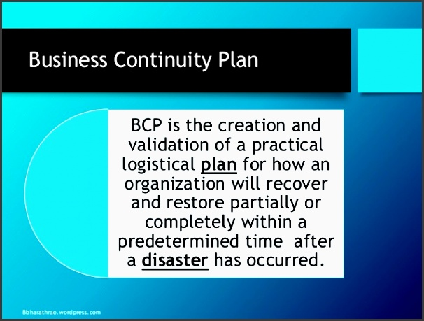 business continuity planning disaster recovery planning bbharathrao 2