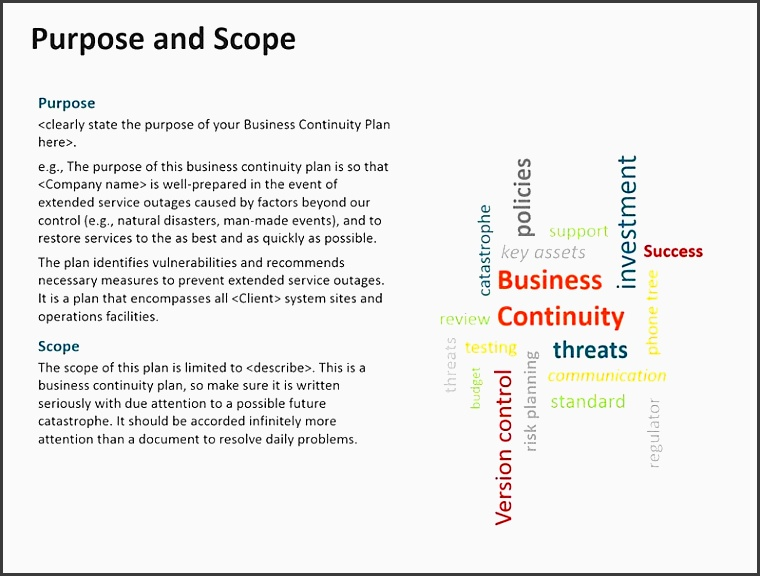 business continuity planning template powerpoint