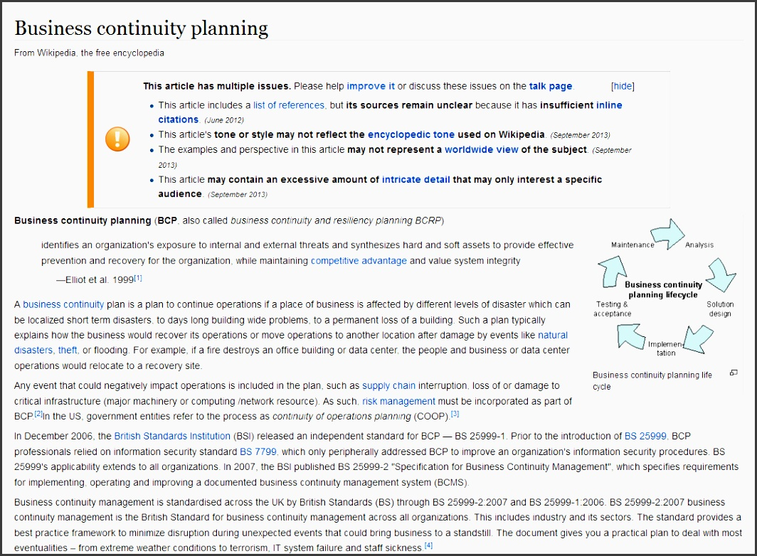 new business continuity plan template