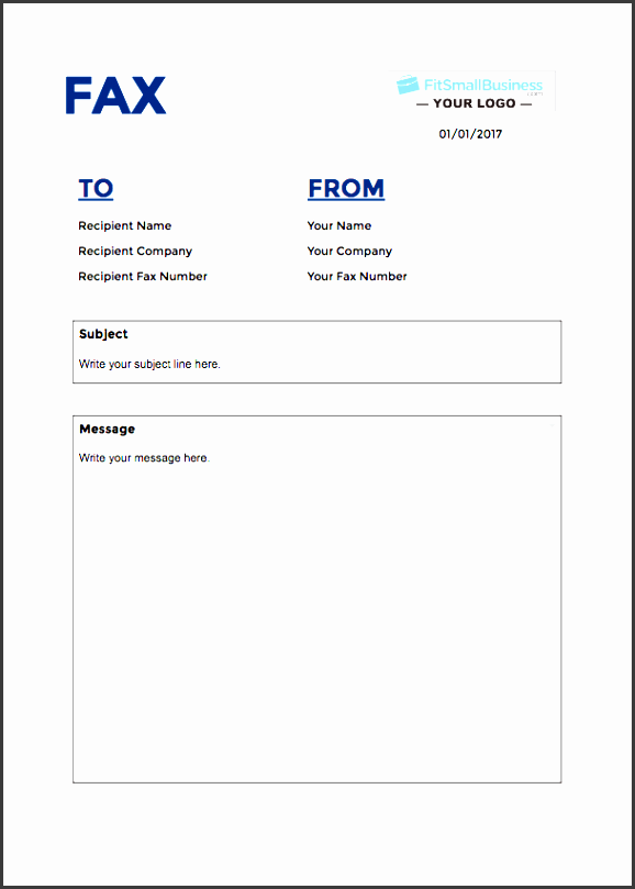 customizable fax cover sheet