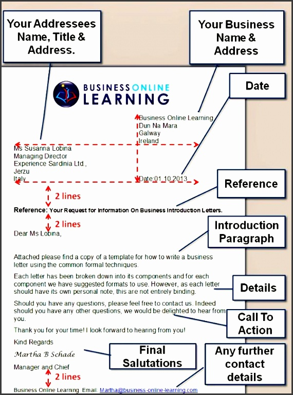 this diagram shows a sample formal business letter and how you can format it naturally