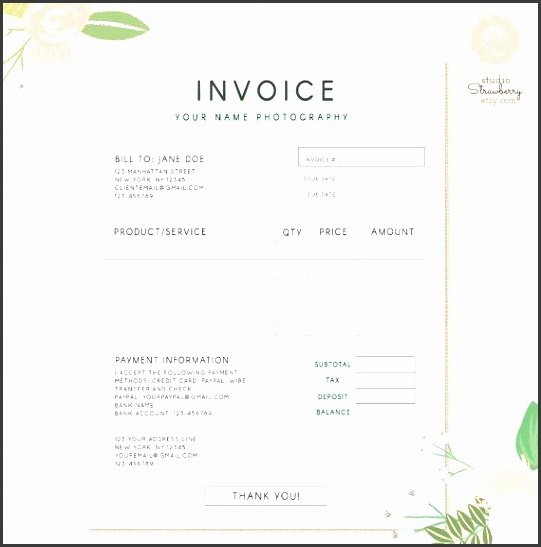 invoice template photography invoice business invoice receipt template for photographers photography forms photoshop template psd file