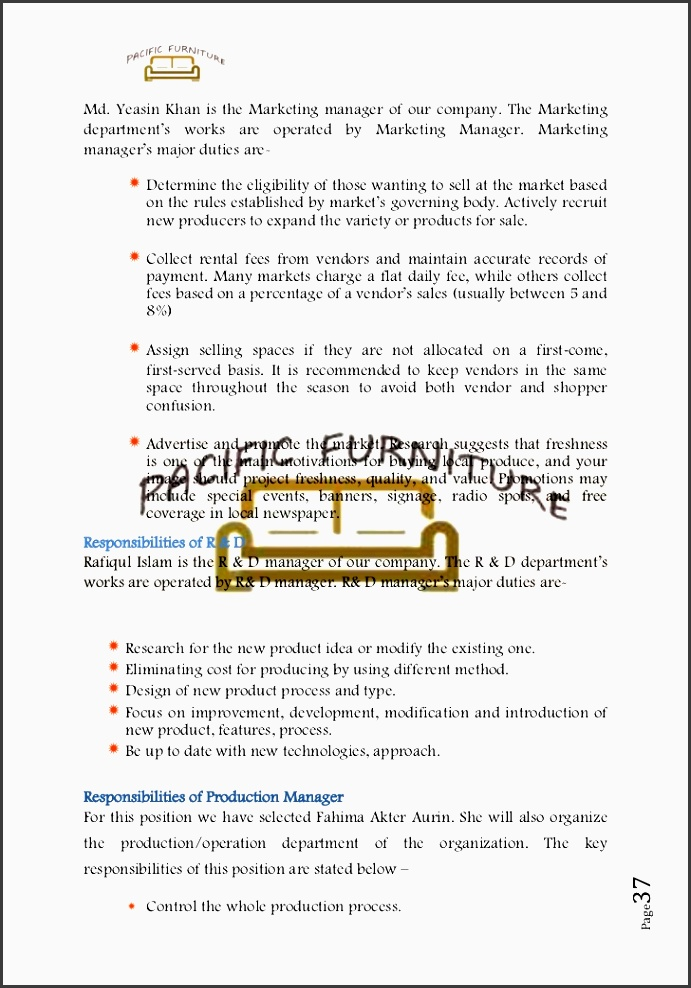 responsibilities of marketing manager 36 page 37