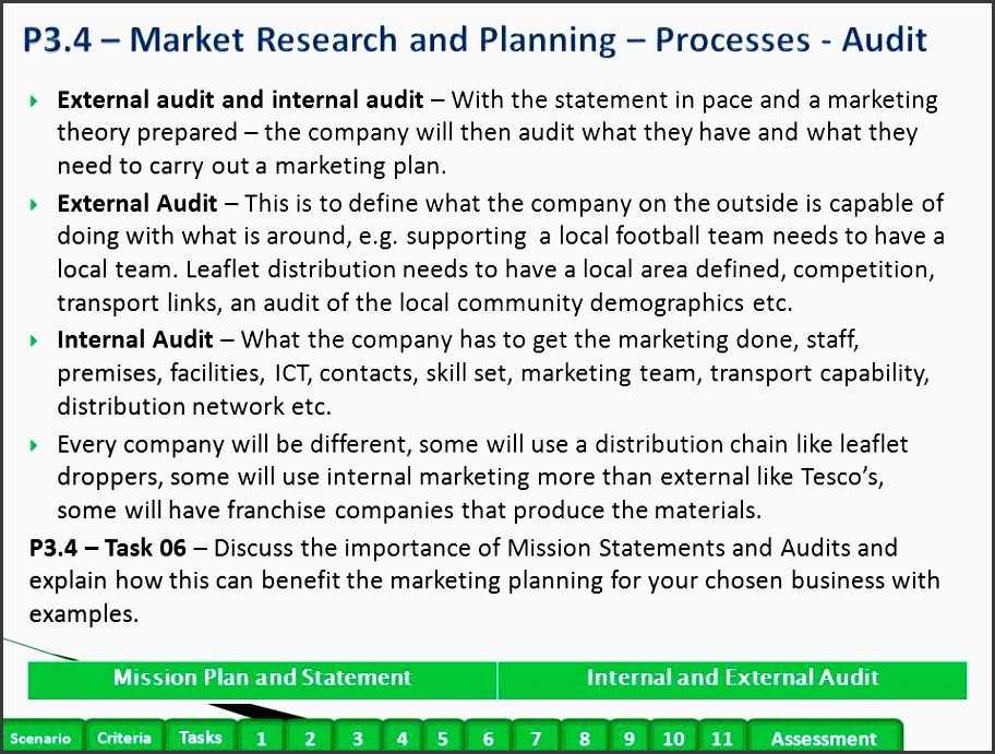 p3 4 market research and planning processes audit